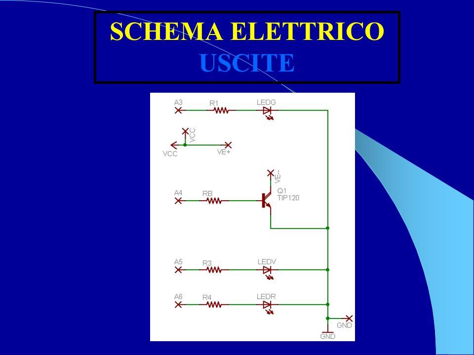 SCHEMA ELETTRICO USCITE