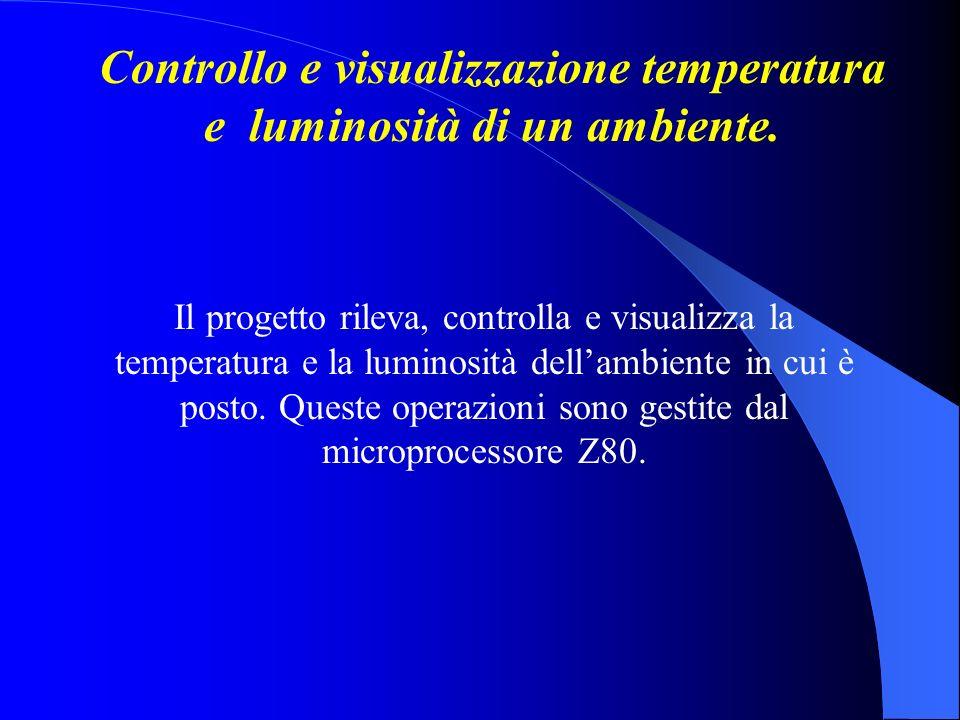 Controllo e visualizzazione temperatura e luminosità di un ambiente.