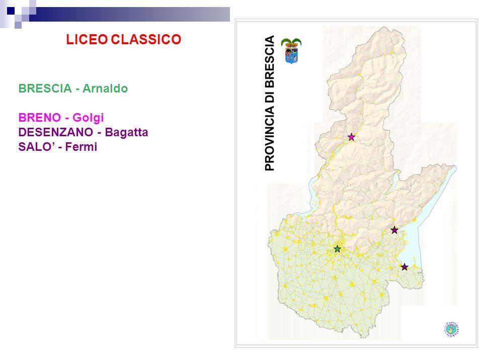 LICEO CLASSICO BRESCIA - Arnaldo BRENO - Golgi DESENZANO - Bagatta SALO - Fermi