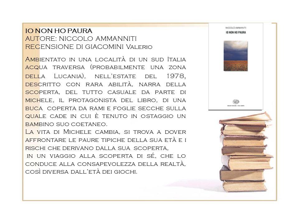 Ambientato in una località di un sud Italia acqua traversa (probabilmente una zona della Lucania), nellestate del 1978, descritto con rara abilità, na