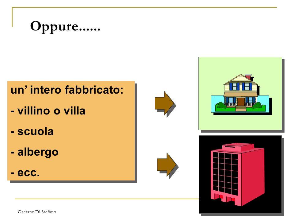 Gaetano Di Stefano Oppure...... un intero fabbricato: - villino o villa - scuola - albergo - ecc. un intero fabbricato: - villino o villa - scuola - a