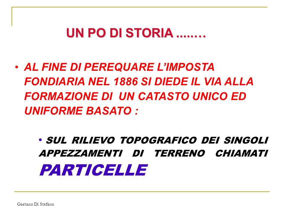 Gaetano Di Stefano IL CATASTO: CHE COSE .
