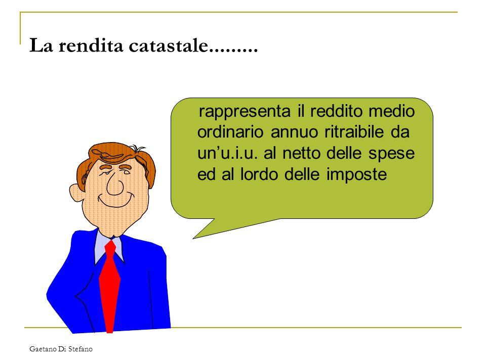 Gaetano Di Stefano La rendita catastale......... rappresenta il reddito medio ordinario annuo ritraibile da unu.i.u. al netto delle spese ed al lordo