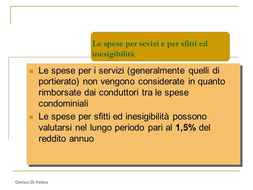 Gaetano Di Stefano Le spese per i servizi (generalmente quelli di portierato) non vengono considerate in quanto rimborsate dai conduttori tra le spese