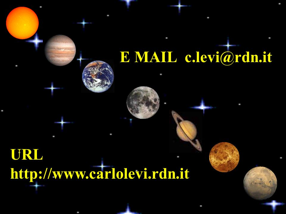 URL http://www.carlolevi.rdn.it E MAIL c.levi@rdn.it