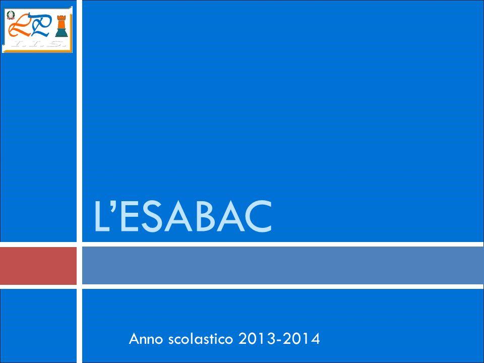 LESABAC Anno scolastico 2013-2014
