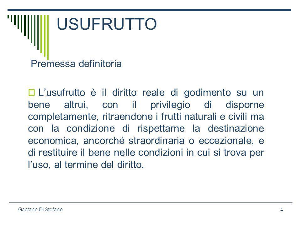 35 Gaetano Di Stefano segue Area sottoposta a vincoli edificabili (Ve) Basamento (Vb) Area di transito (Vt) Area con limitazioni colturali (Vc)