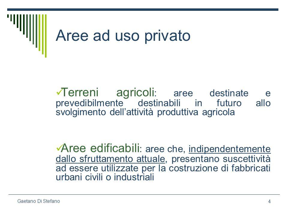 5 Gaetano Di Stefano segue La qualificazione di AREA EDIFICABILE è indipendente dalla natura del suolo, dalla sua destinazione attuale e dalla volontà del proprietario.