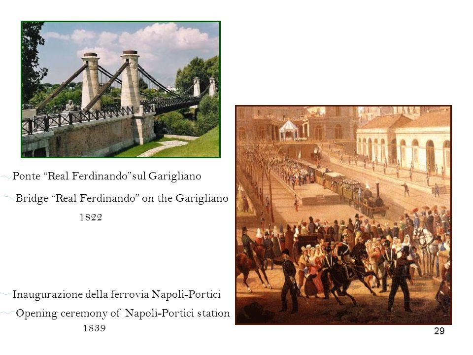 Ponte Real Ferdinandosul Garigliano Bridge Real Ferdinando on the Garigliano 1822 Inaugurazione della ferrovia Napoli-Portici Opening ceremony of Napo