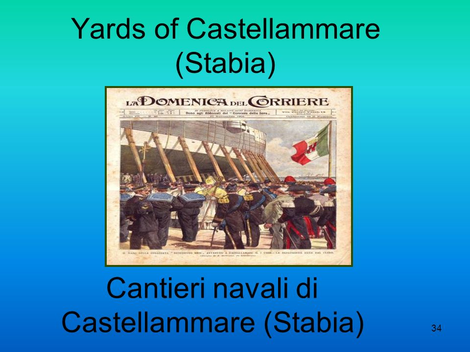 Yards of Castellammare (Stabia) Cantieri navali di Castellammare (Stabia) 34