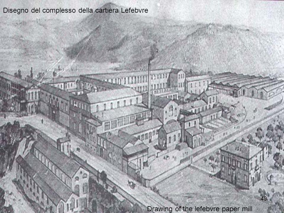 Disegno del complesso della cartiera Lefebvre Drawing of the lefebvre paper mill 49