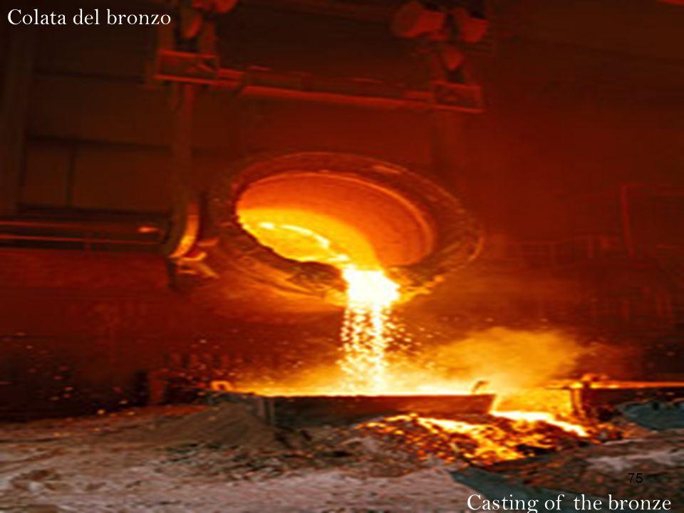 Colata del bronzo Casting of the bronze 75