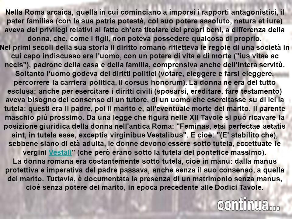 Nel 18 a.C., per far fronte al crollo delle nascite e ai divorzi facili, Ottaviano presenta la famosa Lex Iulia de maritandis ordinibus, diretta a ric