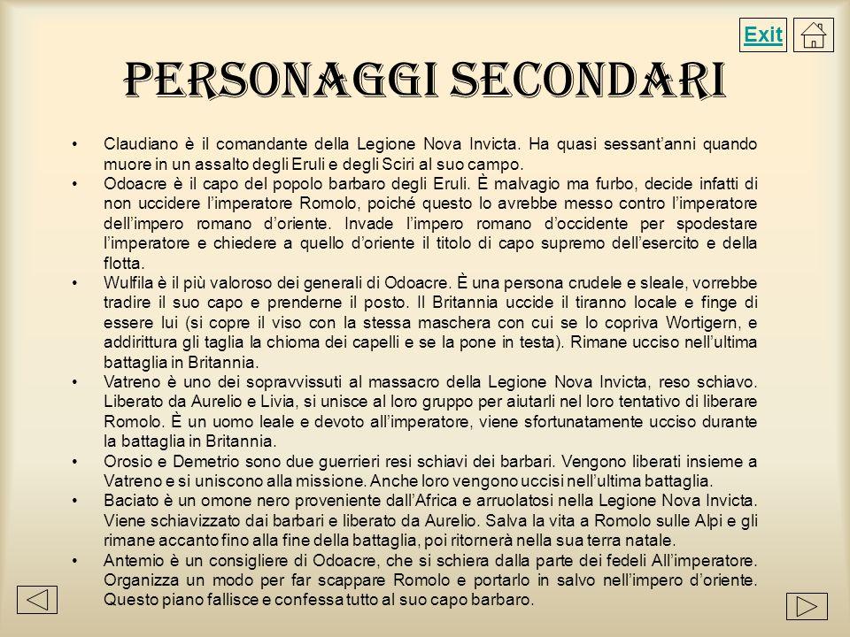 Personaggi Secondari2Personaggi Secondari2 Stefano è un aiutante di Antemio ed è inizialmente dalla parte di Romolo, una volta venuto a sapere che la spada calibica di Cesare è in mano allimperatore fa di tutto per averla.
