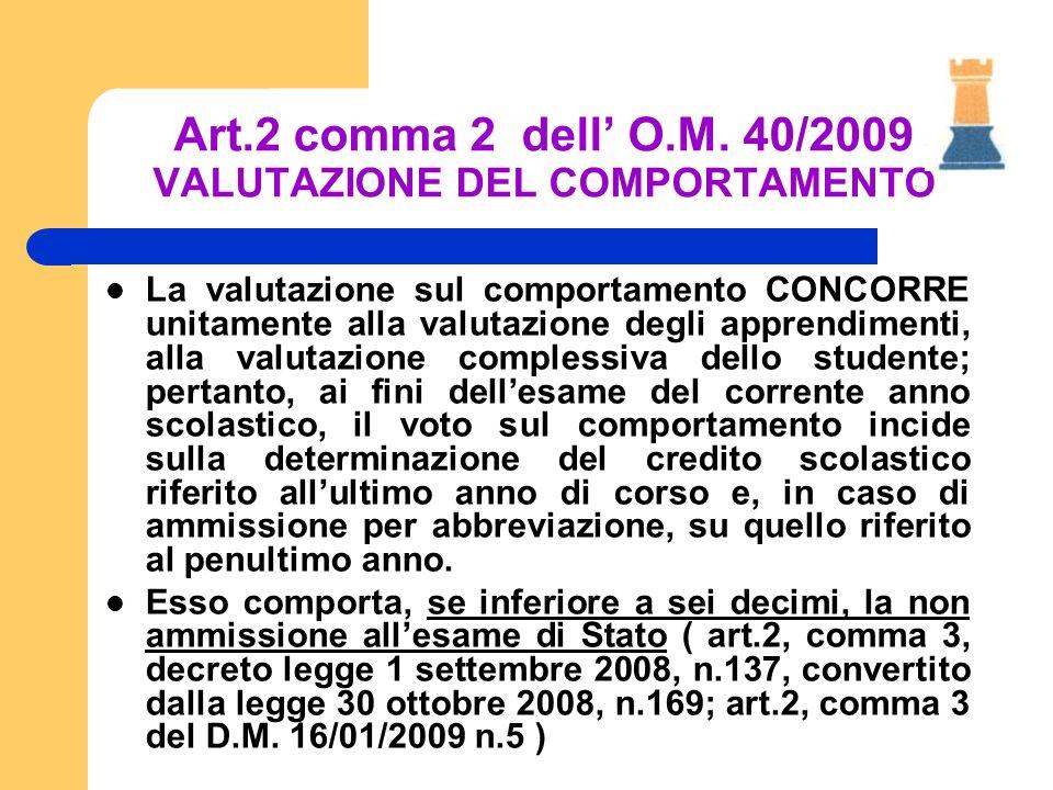La valutazione sul comportamento CONCORRE unitamente alla valutazione degli apprendimenti, alla valutazione complessiva dello studente; pertanto, ai f