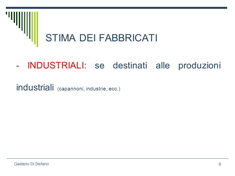 60 Gaetano Di Stefano segue Lesatta individuazione del saggio di capitalizzazione è di estrema importanza per la ricerca del valore di mercato dellimmobile.