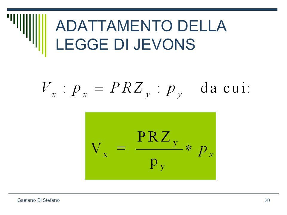 20 Gaetano Di Stefano ADATTAMENTO DELLA LEGGE DI JEVONS