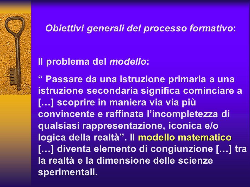 Il problema del modello: modello matematico Passare da una istruzione primaria a una istruzione secondaria significa cominciare a […] scoprire in mani