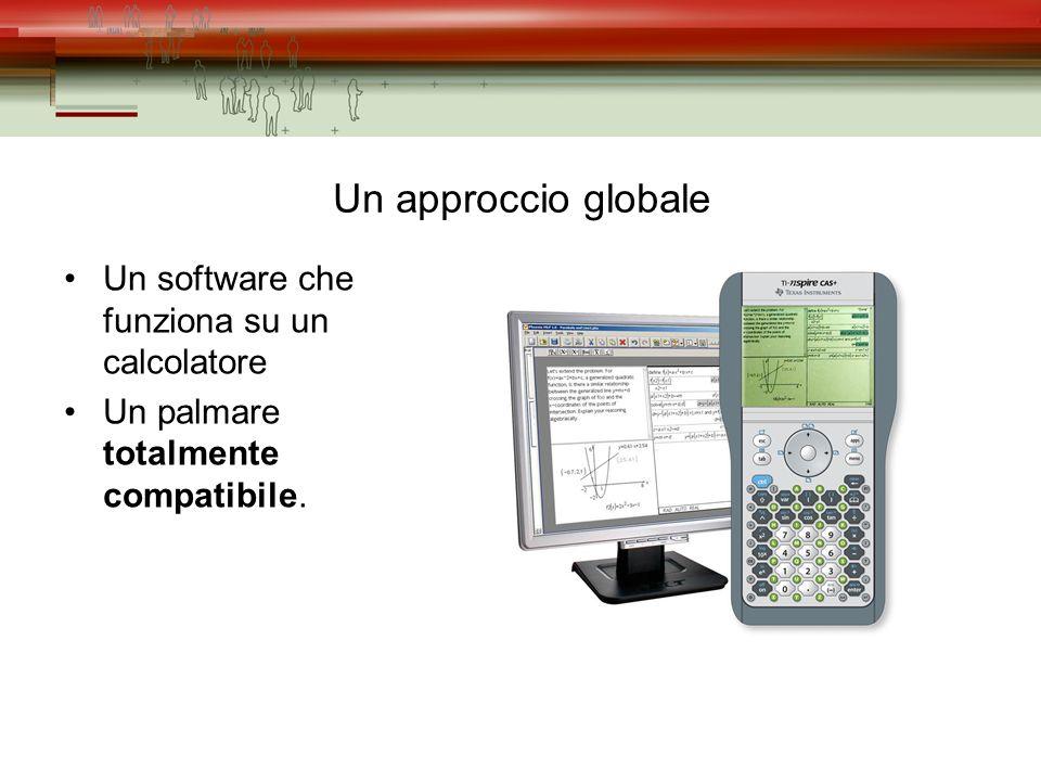 Un approccio globale Un software che funziona su un calcolatore Un palmare totalmente compatibile.