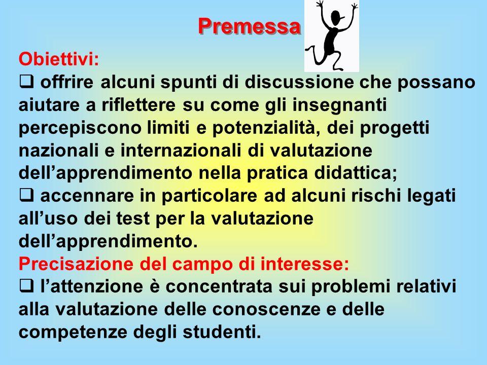 Premessa Obiettivi: offrire alcuni spunti di discussione che possano aiutare a riflettere su come gli insegnanti percepiscono limiti e potenzialità, d