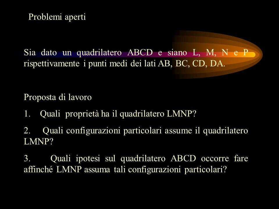 Sia dato un quadrilatero ABCD e siano L, M, N e P rispettivamente i punti medi dei lati AB, BC, CD, DA.