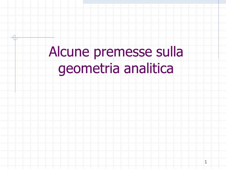 Alcune premesse sulla geometria analitica 1