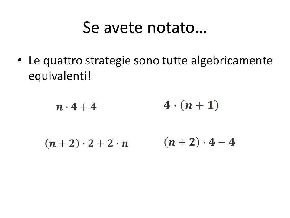 Le quattro strategie sono tutte algebricamente equivalenti! Se avete notato…