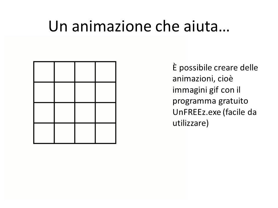Un animazione che aiuta… È possibile creare delle animazioni, cioè immagini gif con il programma gratuito UnFREEz.exe (facile da utilizzare)