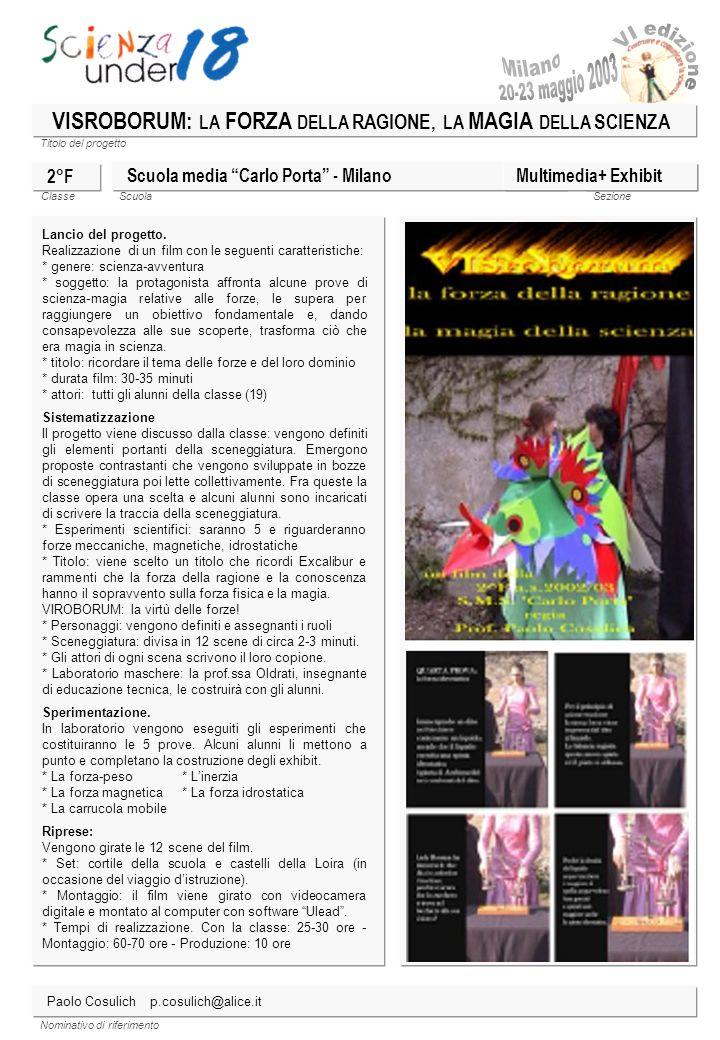 Titolo del progetto Classe ScuolaSezione Nominativo di riferimento OCCHIO AGLI ARTROPODI.