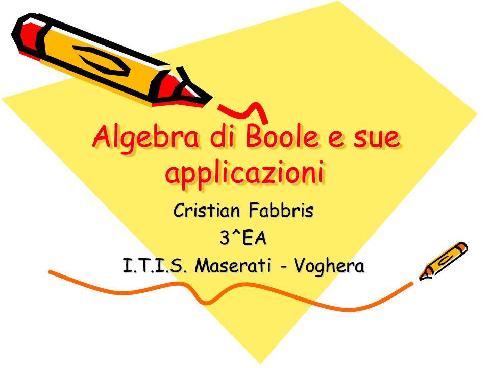 Algebra di Boole e sue applicazioni Cristian Fabbris 3^EA I.T.I.S. Maserati - Voghera