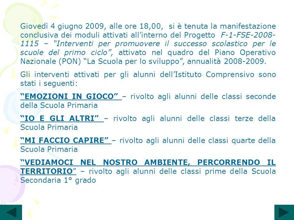Moduli 3-4 – Io e gli altri – classi terze Docenti tutor: Eugenia Maruotti, Gerardina Solazzo, Giuliana Zarra.