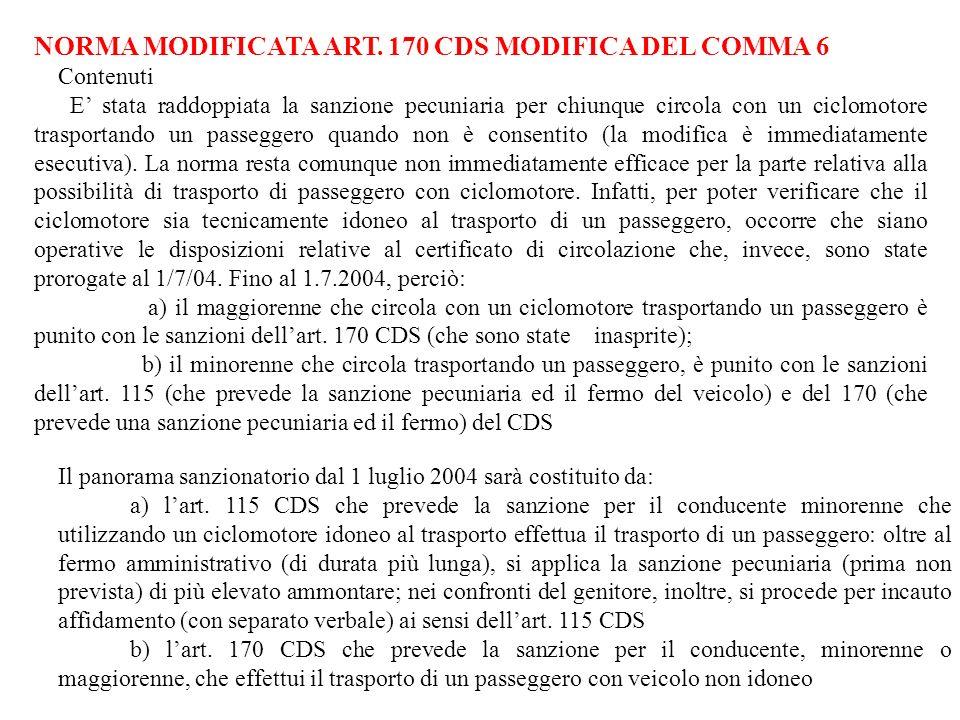 NORMA MODIFICATA ART.
