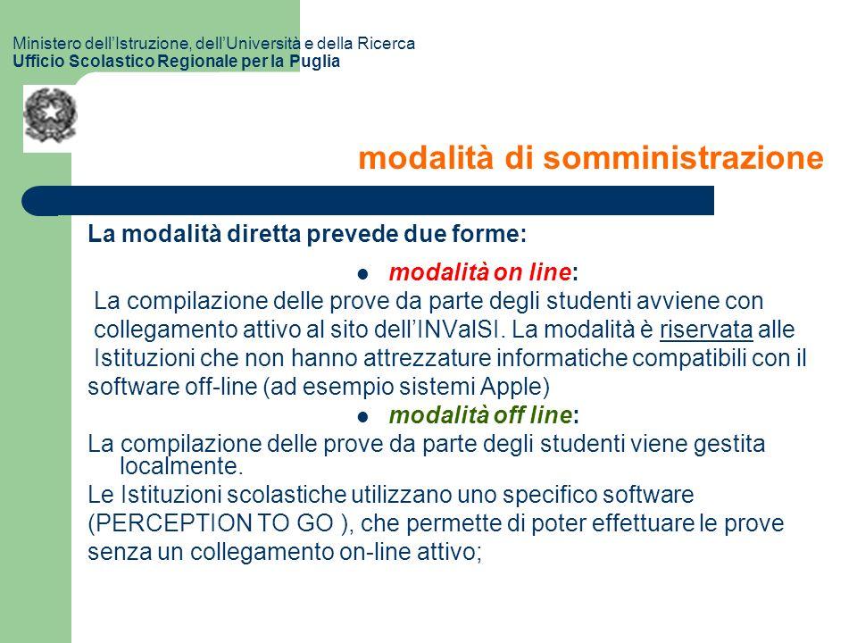 La modalità diretta prevede due forme: modalità on line: La compilazione delle prove da parte degli studenti avviene con collegamento attivo al sito dellINValSI.