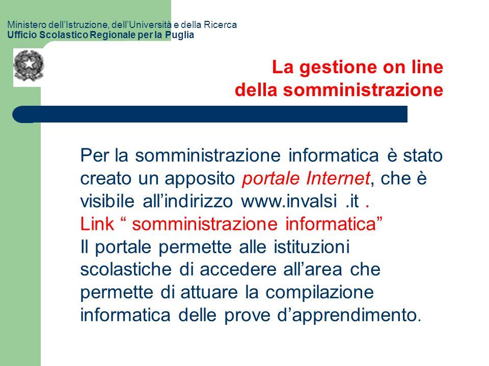 Per la somministrazione informatica è stato creato un apposito portale Internet, che è visibile allindirizzo www.invalsi.it.
