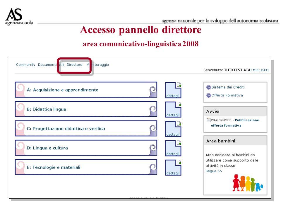 Accesso pannello direttore area comunicativo-linguistica 2008