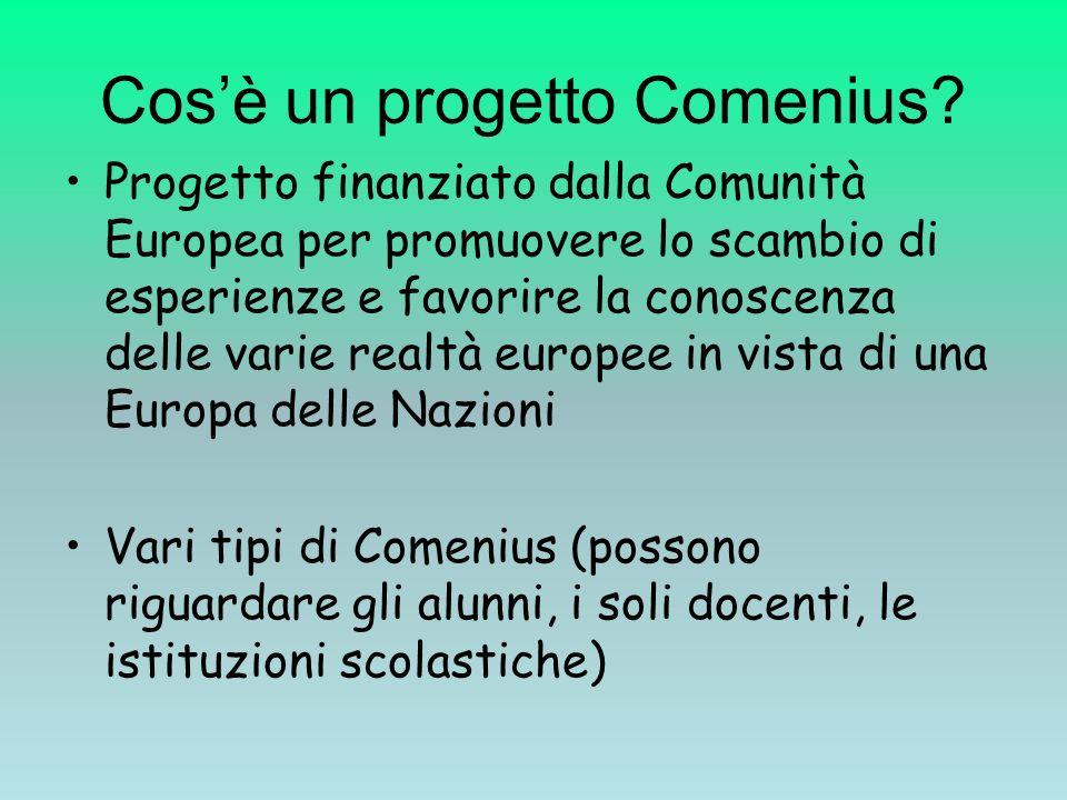 Cosè un progetto Comenius.