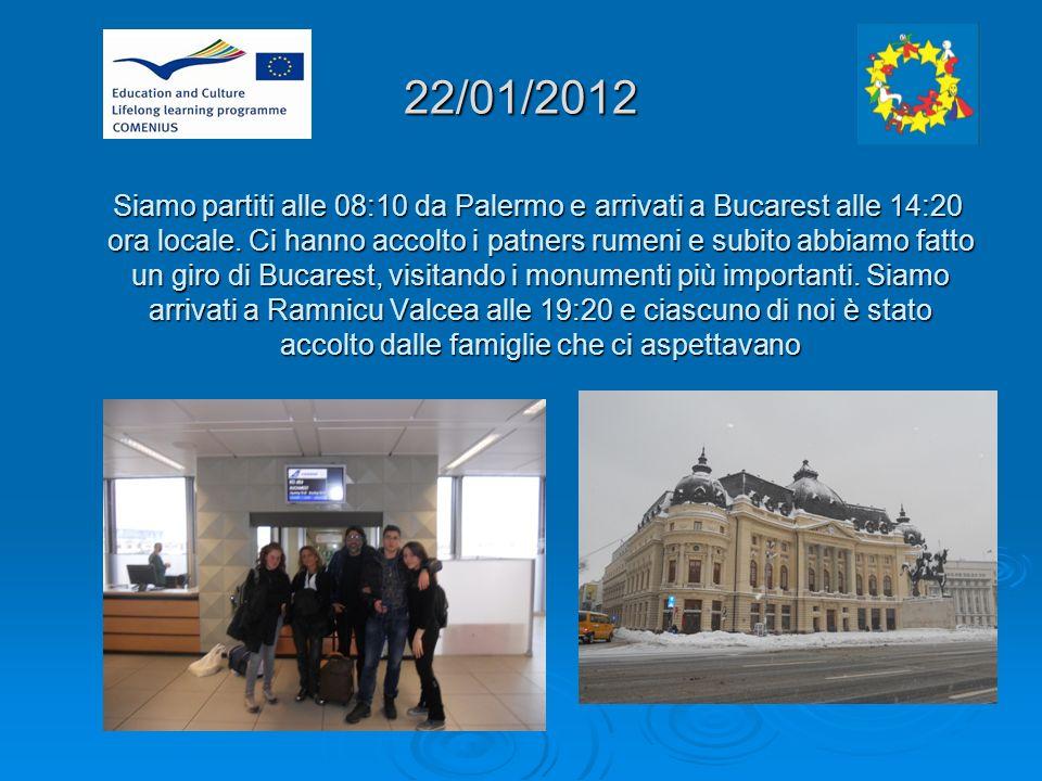 22/01/2012 Siamo partiti alle 08:10 da Palermo e arrivati a Bucarest alle 14:20 ora locale.