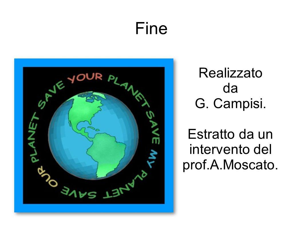 Fine Realizzato da G. Campisi. Estratto da un intervento del prof.A.Moscato.