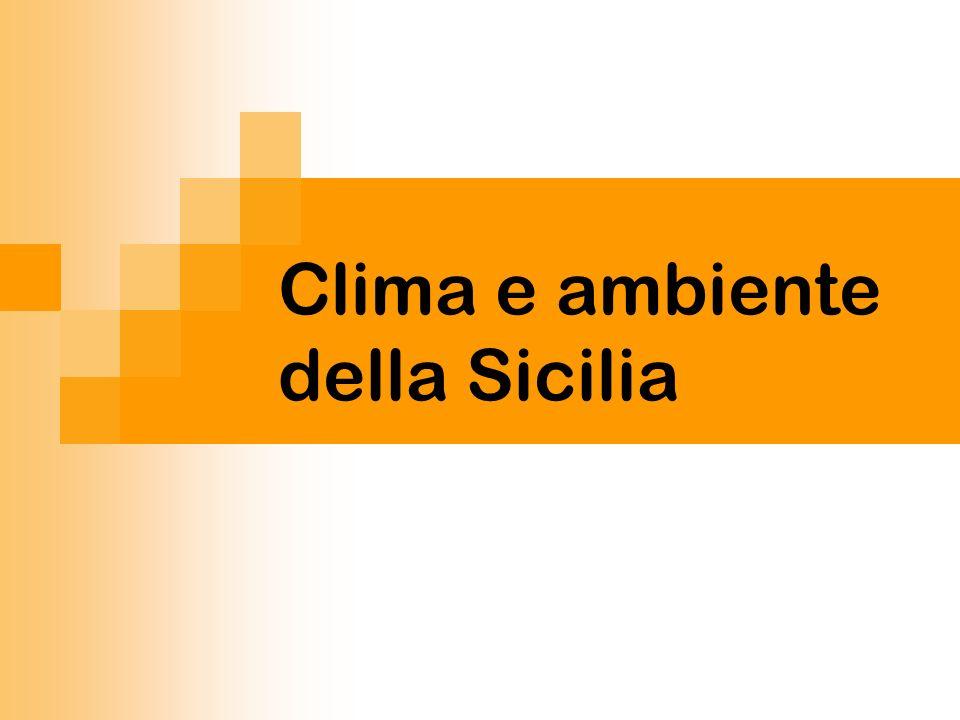 Clima e ambiente della Sicilia