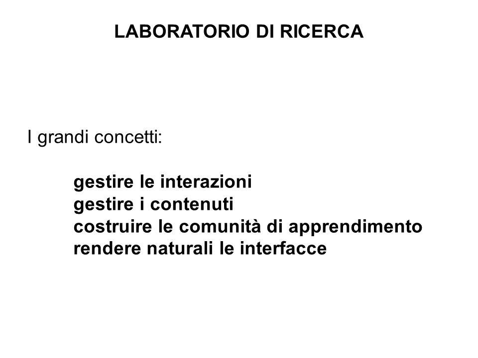 Alcune schermate Interfaccia generale 3. Giochi per lorientamento e la valutazione