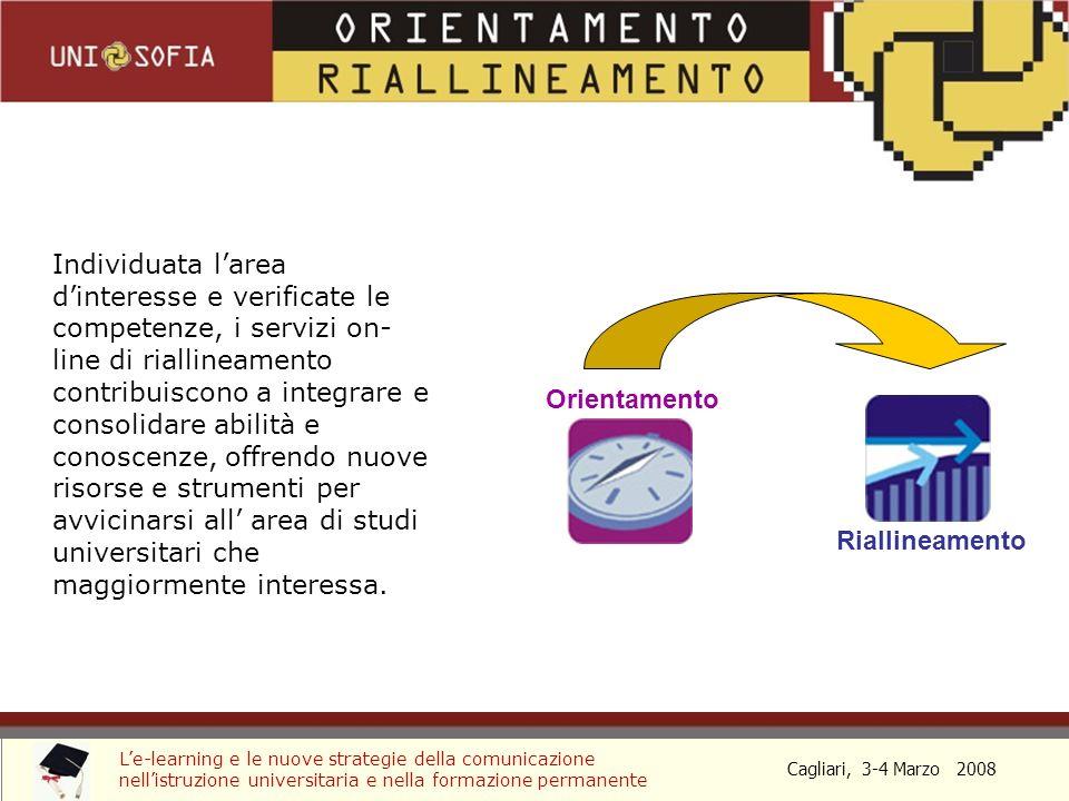 Cagliari, 3-4 Marzo 2008 Le-learning e le nuove strategie della comunicazione nellistruzione universitaria e nella formazione permanente PROSPETTIVE