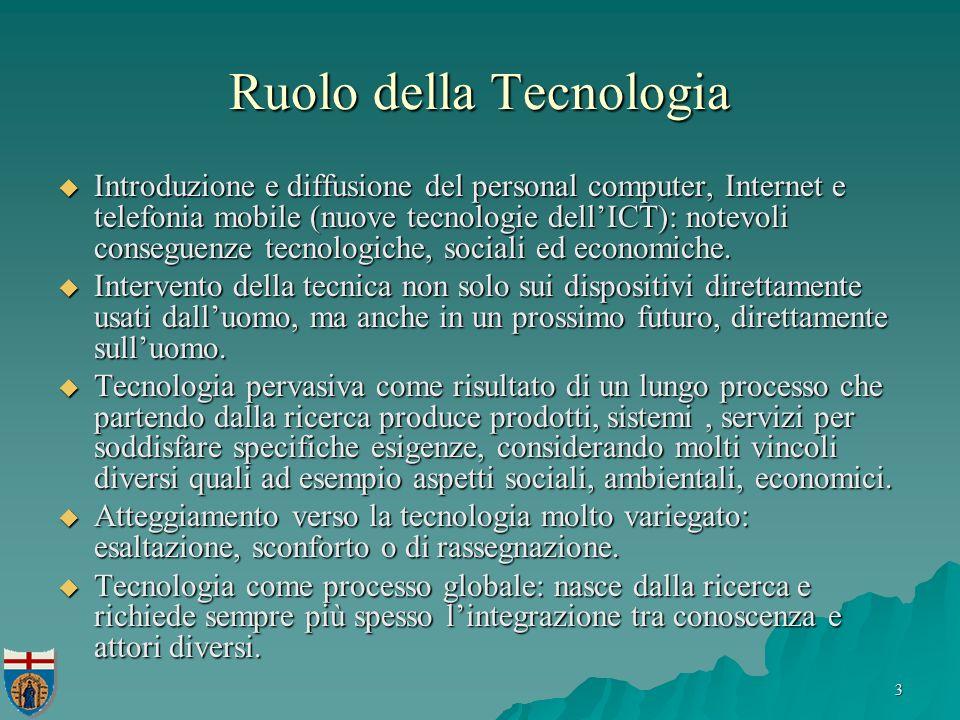 3 Ruolo della Tecnologia Introduzione e diffusione del personal computer, Internet e telefonia mobile (nuove tecnologie dellICT): notevoli conseguenze tecnologiche, sociali ed economiche.