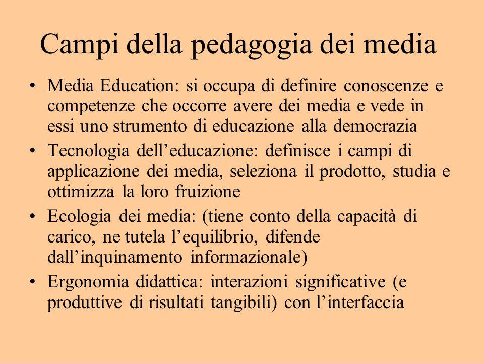 (Multi)media education Approccio critico ai media: sentiva la necessità di salvare gli allievi dalla corruzione e dalla menzogna dei media.