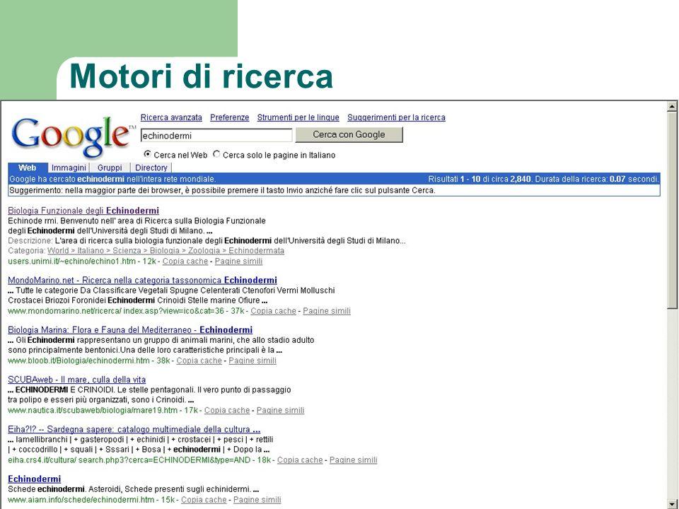 Motori di ricerca