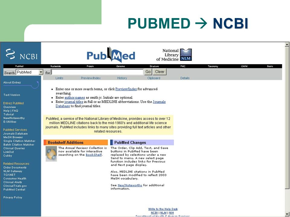 NCBI PUBMED NCBI