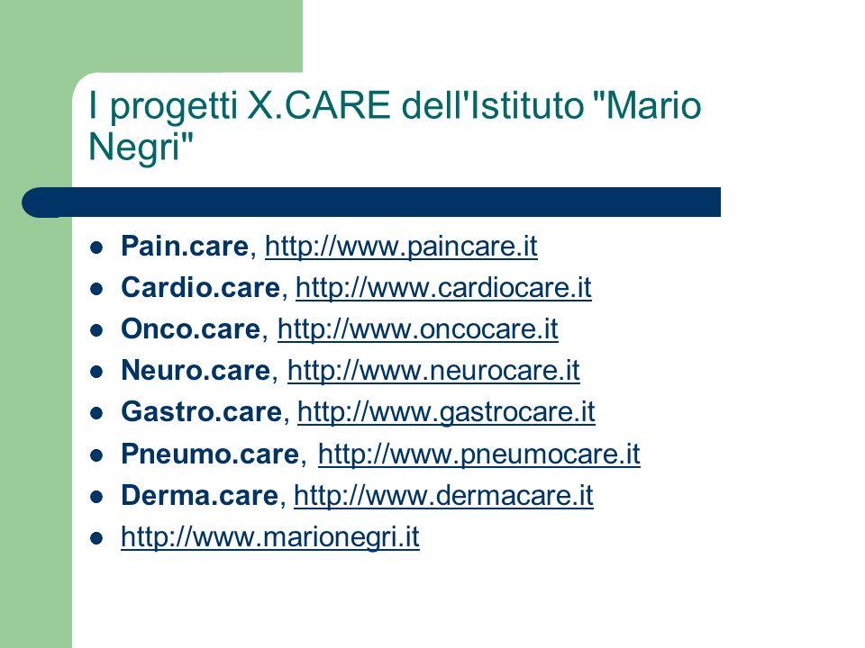 I progetti X.CARE dell'Istituto