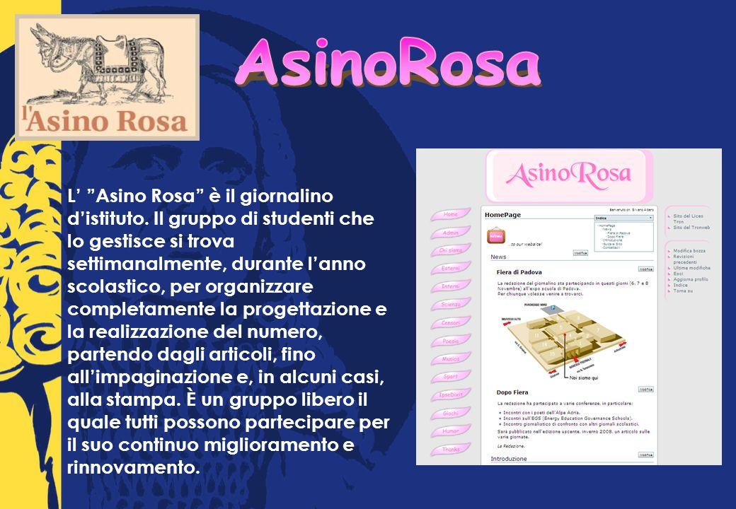 L Asino Rosa è il giornalino distituto.