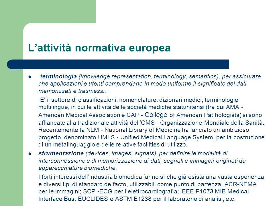 Lattività normativa europea terminologia (knowledge representation, terminology, semantics), per assicurare che applicazioni e utenti comprendano in m