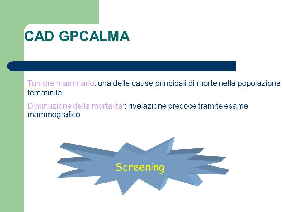 Tumore mammario: una delle cause principali di morte nella popolazione femminile Diminuzione della mortalita: rivelazione precoce tramite esame mammog