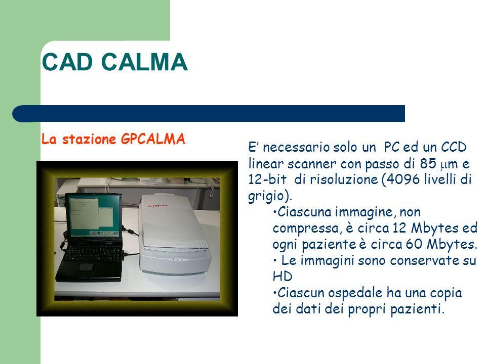 La stazione GPCALMA E necessario solo un PC ed un CCD linear scanner con passo di 85 m e 12-bit di risoluzione (4096 livelli di grigio). Ciascuna imma